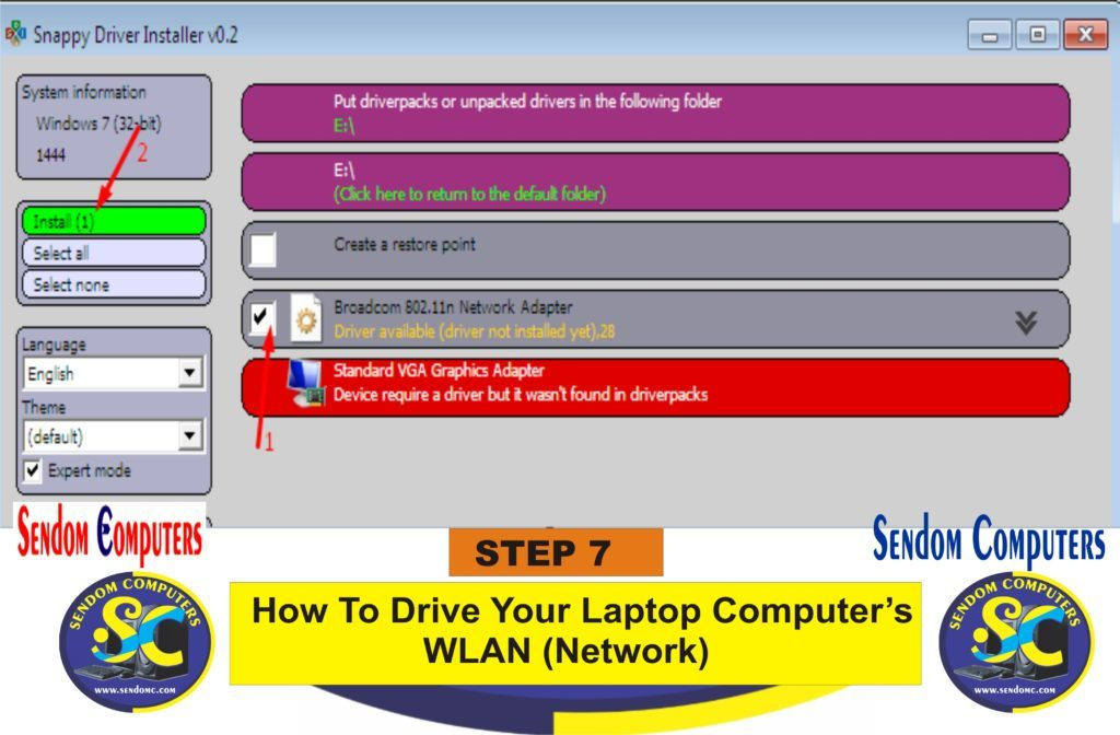 How To Drive Your Laptop Computer's WLAN Network- Step 7