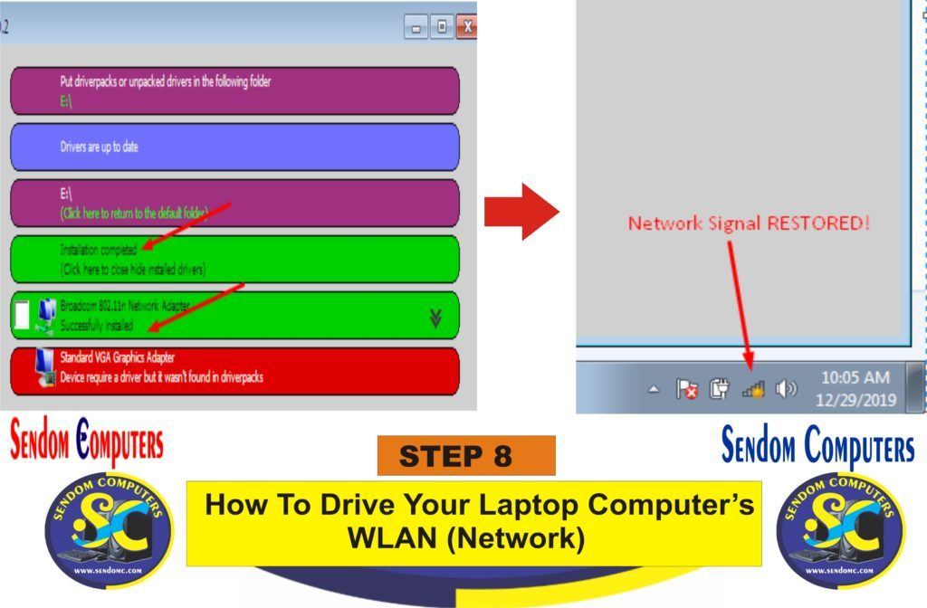 How To Drive Your Laptop Computer's WLAN Network- Step 8