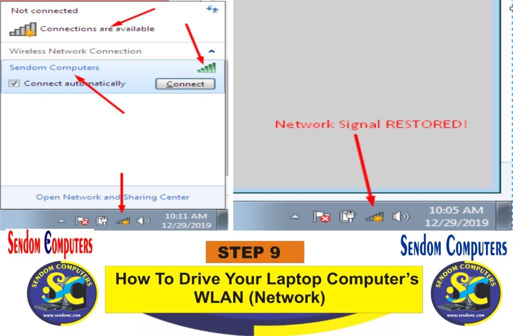 How To Drive Your Laptop Computer's WLAN Network- Step 9