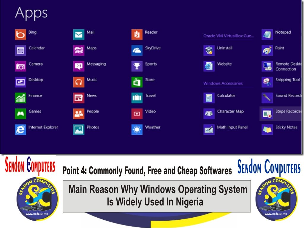 Main Reason Why Windows Operating System is Widely Used In Nigeria - Point 4